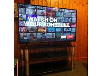 """Hitachi 50"""" LED Full HD Smart TV with free glass stand"""
