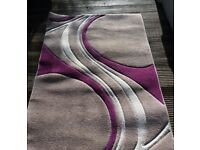 "Dunelm ""Mirage"" Natural and Plum Rug"
