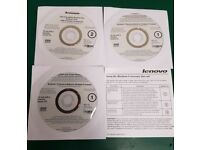 ORIGINAL LENOVO WINDOWS 8 PRO 64 BIT RESTORE DISKS
