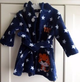 Boys 3-6 months dressing gown