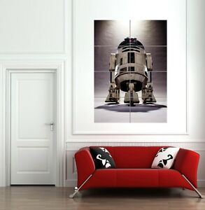 STAR WARS R2D2 DROID GIANT WALL ART PRINT POSTER PICTURE B918