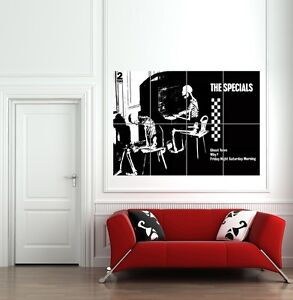 THE-SPECIALS-2-TONE-GHOST-TOWN-GIANT-ART-PRINT-POSTER-PICTURE-B1047