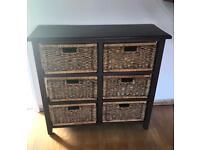 Dark Wood Storage Unit