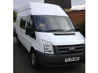 FORD TRANSIT 350 2.4 (100) LONG WHEEL BASE HIGH ROOF 9 SEAT CREW VAN