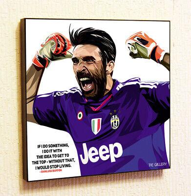 Gianluigi Buffon Juventus Soccer Football Pop Art Poster Framed Print Painting