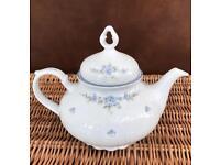 Seltmann Weiden Bavaria Regina Shape Blue Floral Pattern Teapot