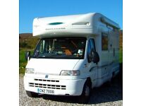 Bessacar E705 2-berth Motorhome, quality van in excellent condition. Fiat Ducato 2800 JTD Diesel