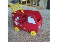 Sturdy Fire Engine Style Toybox