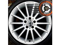 "18"" Genuine AMG alloys VW Golf Caddy Leon excel cond match tyres"