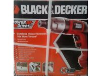 Black & Decker Cordless Power Driver ~ Brand New in Box