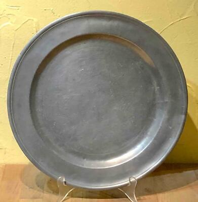 Antique American Pewter Small Charger, Jacob Whitmore, Middletown, CT., C. 1758 - $99.99
