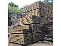 New British Eco Treated Sleepers 2.4m x 200mm x 100mm