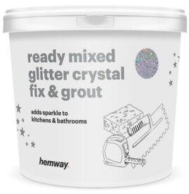 ULTRA sparkle Hemway 2.5L / 4.5kg Ready Mixed Glitter Crystal Fix & Grout