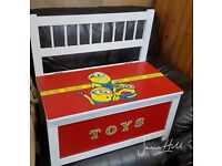 Custom Painted *Minions* Toy Chest Wooden