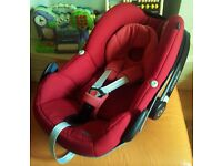 Maxi Cosi Pebble Car Seat in Red Rumour fits Quinny Bugaboo Icandy Silvercross Oyster