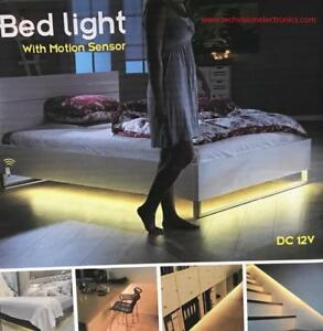 LED BED LIGHT WITH MOTION SENSOR AND AUTOMATIC SHUTT OFF TIMER FOR UNDER  BED, KITCHEN CABINET, LIVING ROOM, BATHROOM