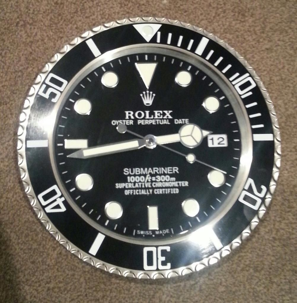 Rolex Submariner Wall Clocks Large Size Top Quality Clocks in