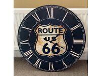 ROUTE 66 Studio or Man Cave Clock