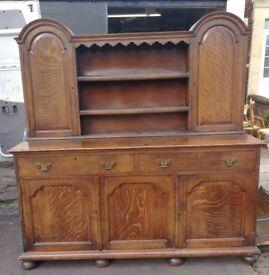 Vintage solid oak Welsh Dresser