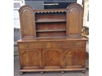 Vintage Solid Oak Welsh Dresser