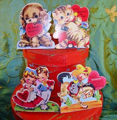 Bethany Lowe Valentine's Day Dummy Boards Set of 4