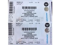 2x J Cole Seated tickets, Manchester, 21st Oct