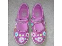 Lelli Kelly girls pink sparkly shoes