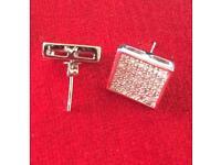 Designer 2x2 square stud earrings