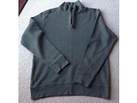 Men's Green Funnel Neck Top from Land's End Size Medium