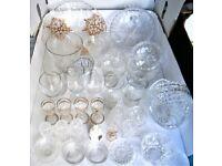 GLASSWARE . Over 30 pieces glassware . Crystal cut glass , Bohemia / Edinburgh . Fruit bowls