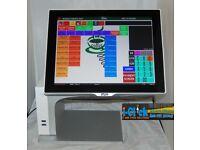 Aures Sango \ Yuno Epos TouchScreen System till Cash Register Pos Retail Fast Food Coffee Chip shop
