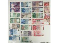 Lot of Hong Kong Dollars 22 Banknotes