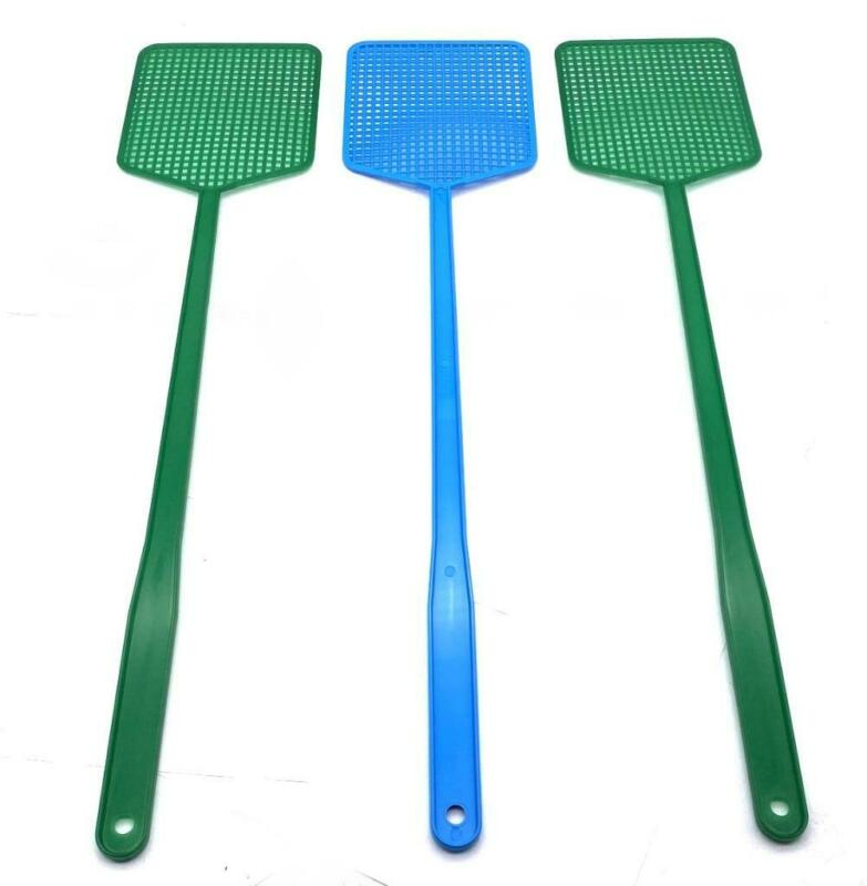 3 Pack Heavy Duty Fly Swatter Pack Plastic Bug Mosquito Insect Wasp Killer