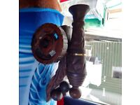 Beautiful Vintage large Wooden Cannon Ornament