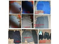 school uniform and plimsoles all in pictures £22.50 the lot or prices in pictures (some new)