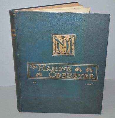 'The Marine Observer ' Nautical Meteorological Book 1928 - SS Ariguani - vol 5.