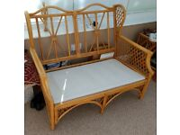 Cane Conservatory Suite Frames (3 pieces) + Nest of 3 Coffee Tables