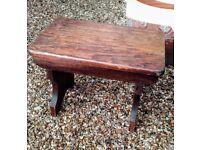 Solid wood vintage stool/table