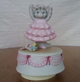 Schmid Kitty Cucumber Music Box Dancer