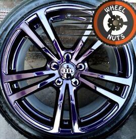 "18"" Genuine Audi A3 S Line alloys Midnight Purple perf cond premium tyres"