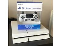 PS4 500gb white model & 12 months warranty