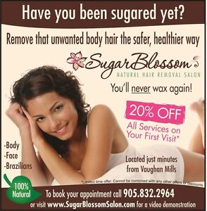 No Waxing! Body Sugaring available in Vaughan! Best Brazilians!