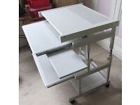 Metal Adjustable Height Computer Desk Slide Out Shelves