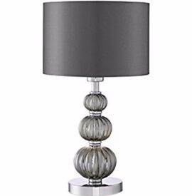 Light Stacked Table Lamp with Smokey Glass - Brand New - Boxed