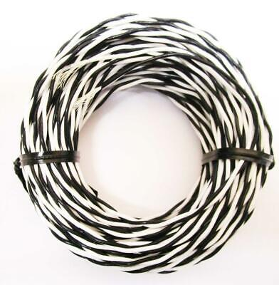 50 Ft Mil Spec 22 Awg M168784-bfe-90 White Black Twisted Pair Silver Plated