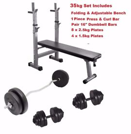 Complete weight training set From Only £99
