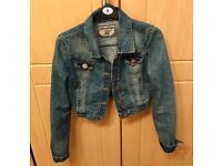 Crop denim jacket size 8