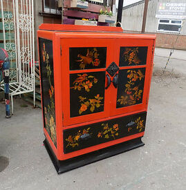Oriental Style Laquered Cabinet