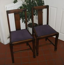 2 Antique Dining chairs for use or maybe shabby chic project