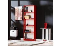 5 tier coloured bookcase bookshelf bookcase 5 Colours